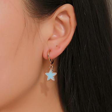 povoljno Modne naušnice-Žene Naušnica Geometrijski Csillag Naušnice Jewelry Zlato Za Praznik 1 par