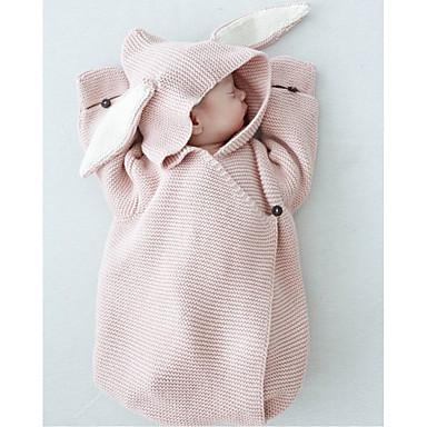povoljno Odjeća za bebe-Dijete koje je tek prohodalo Djevojčice Osnovni Rabbit Jednobojni Halloween Životinjski uzorak Sleepwear Blushing Pink
