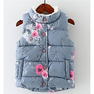 cheap Baby & Kids-Kids Girls' Basic Floral Vest Gray