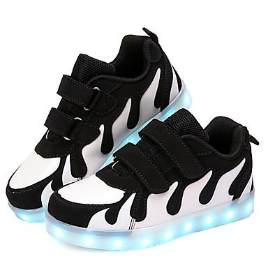 preiswerte Schuhe für Kinder-Jungen Leuchtende LED-Schuhe PU Sneakers Große Kinder (ab 7 Jahren) Paillette / LED Weiß / Schwarz / Rosa Herbst / Winter / Gummi