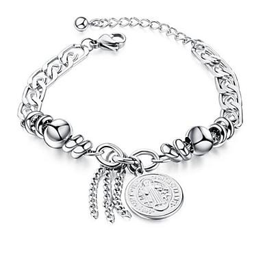 levne Pánské šperky-Pánské Dámské Řetězové & Ploché Náramky Geometrické Haç Módní Ocel Náramek šperky Stříbrná Pro Dar Denní