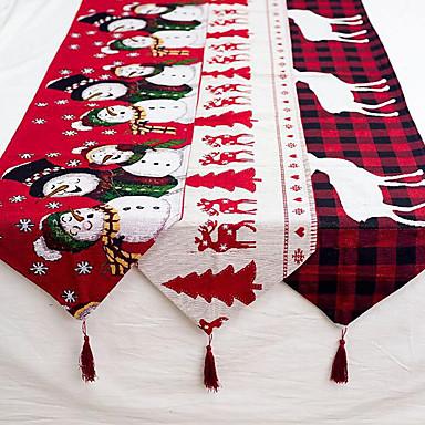 billige Ferie-lin jul elg snømann bordløper god julepynt til hjemmet 2019 xmas ornaments