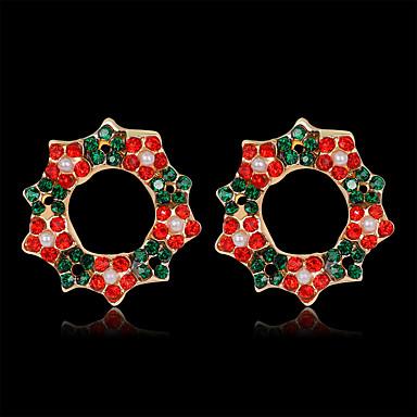voordelige Dames Sieraden-Dames Oorknopjes 3D Bloem Ster Kostbaar Modieus Verguld oorbellen Sieraden Regenboog Voor Kerstmis Feest Lahja Festival 1 paar
