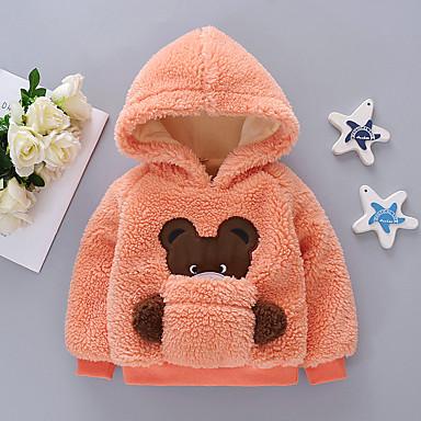 preiswerte Kapuzenpullover & Sweatshirts für Babys-Baby Mädchen Grundlegend Solide Langarm Kapuzenpullover Rosa