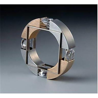 levne Pánské šperky-Pánské Prsten Kubický zirkon 1ks Zlatá Měď Geometric Shape Módní Zásnuby Denní Šperky Geometrické Blahoslavený Cool