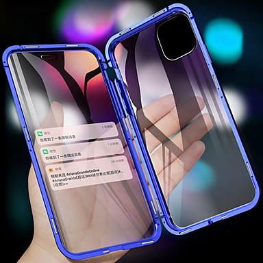 رخيصةأون أغطية أيفون-معدن مغناطيسي مزدوج الجانب الزجاج المقسى حالة الهاتف لآيفون 11 11 الموالية 11 برو ماكس xs ماكس xr xs x 8 8 زائد 7 7 زائد
