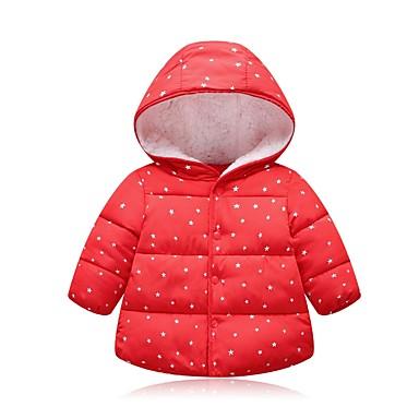 preiswerte Winter-Kinderkleidung-Kinder Mädchen Street Schick Punkt Daunen & Baumwoll gefüttert Rosa