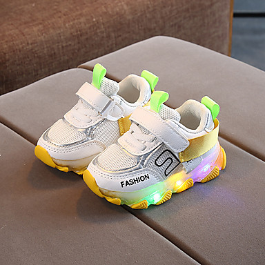 cheap New Arrivals-Boys' / Girls' Comfort Mesh Sneakers Toddler(9m-4ys) / Little Kids(4-7ys) Buckle Orange / Yellow / Pink Spring / Fall / Party & Evening