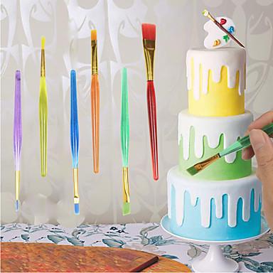 6db diy eszköz toll készlet torta jegesedés díszítő finom festés kefe rugalmas festékkefék fondant sugarcraft