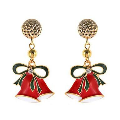 povoljno Modne naušnice-Žene Viseće naušnice Klasičan Zvono Naušnice Jewelry Zlato Za Božić 1 par