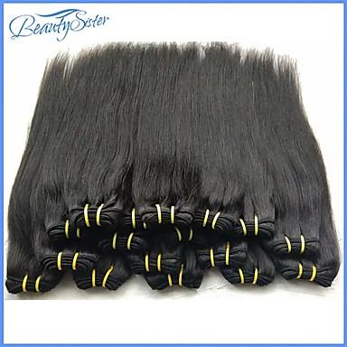 """povoljno Ekstenzije za kosu-2 Paketi 4 paketića 6 paketića Brazilska kosa Ravan kroj Ljudska kosa tkati 8""""~24"""" Natural Isprepliće ljudske kose Žene proširenje Za crnkinje Proširenja ljudske kose / neprerađenih"""
