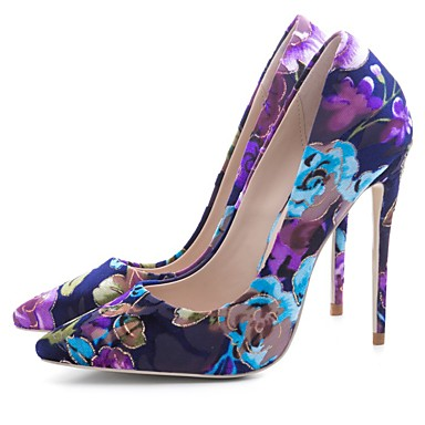cheap Women's Heels-Women's Heels Stiletto Heel Pointed Toe Polyester Spring &  Fall Purple