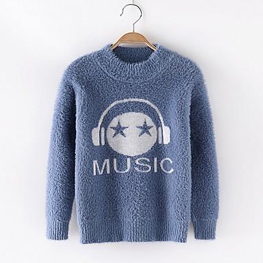 povoljno Odjeća za dječake-Djeca Dječaci Osnovni Print Dugih rukava Džemper i kardigan Obala
