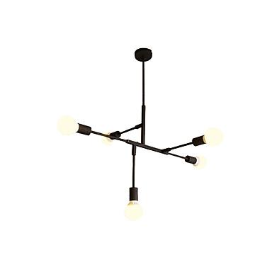 QINGMING® 5-Light Mértani Csillárok Háttérfény Festett felületek Fém Mini stílus 110-120 V / 220-240 V