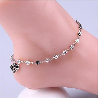levne Dámské šperky-Dámské kotník náramek Geometrické Srdce Vintage Nákotník Šperky Stříbrná Pro Denní Dovolená