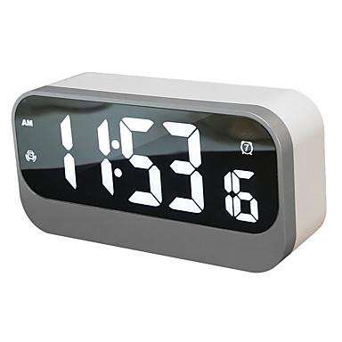 nagy led digitális ébresztőóra usb porttal a telefon töltőjéhez, 0-100% dimmer, érintéssel aktiválható szundi, aljzat tápellátás
