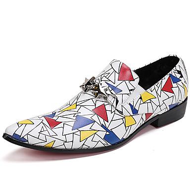 preiswerte Schuhe und Taschen-Herrn Formal Schuhe Nappaleder Frühling / Herbst Winter Freizeit / Britisch Loafers & Slip-Ons Rutschfest Weiß / Party & Festivität
