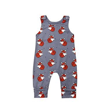 cheap Baby Boys' One-Piece-2pcs Baby Boys' Active Print Print Sleeveless Romper Gray