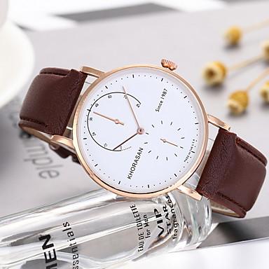 preiswerte Uhren-Damen Uhr Kleideruhr Quartz Leder Armbanduhren für den Alltag Analog Klassisch