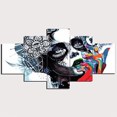 povoljno Printevi-Print Stretched Canvas Prints - Sažetak Tradicionalno Moderna Pet ploha Umjetničke grafike