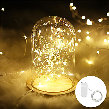 LOT 20 LED String Fairy Lights Copper Wire Battery Power Warm White Christmas MX