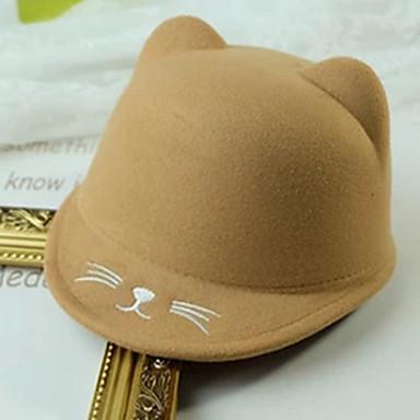 cheap Kids' Hats & Caps-Toddler Unisex Sweet Animal Hats & Caps Khaki One-Size
