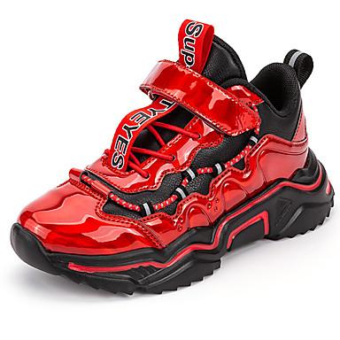preiswerte Schuhe für Kinder-Jungen Komfort Kunststoff Sportschuhe Kleinkind (9m-4ys) / Kleine Kinder (4-7 Jahre) Basketball Schwarz / Wein / Blau Herbst / Winter