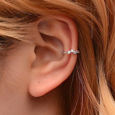 levne Dámské šperky-Dámské Ušní manžety Crossover Šťastný Náušnice Šperky Zlatá / Stříbrná Pro Klub