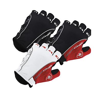 billige Motorsykkelhansker-menn kvinner sykler hansker vinter kaldt vær varme sports motorsykkel hansker termisk antislip halvfingers ridning ski treningshansker