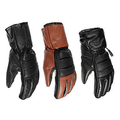 povoljno Motori i quadovi-7.4v kožne vodootporne električne grijane rukavice baterija motocikl zimi toplije