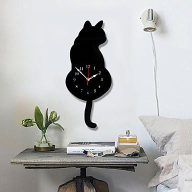 m.sporzó fehér / fekete farok macska falióra konyha modern dizájn dekoráció