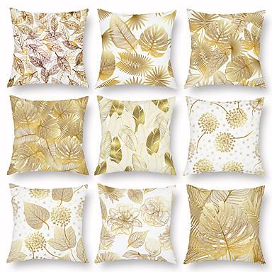 cheap Decorative Pillows-A set of  Autumn Leaves Leaves Pillowcase Light Sofa Car Nap Pillowcase Lumbar Pillowcase