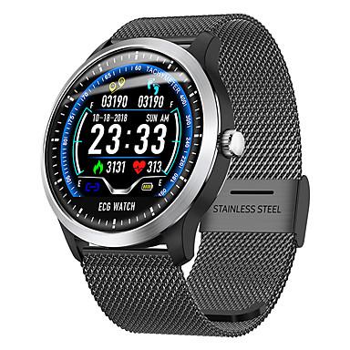 billige Smartklokker-dn58 smartwatch rustfritt stål bt fitness tracker support varsle / ecg / blodtrykk måling sports smartklokke for samsung / iphone / android telefoner