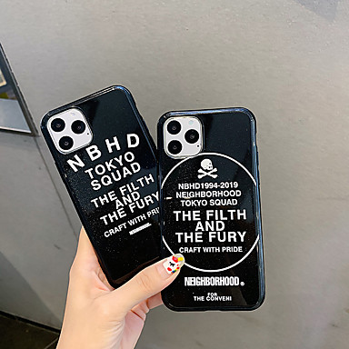 cheap iPhone Cases-Glitter Shine Word / Phrase TPU Case For Apple iPhone 11 Pro Max 8 Plus 7 Plus 6 Plus Max Pattern Back Cover