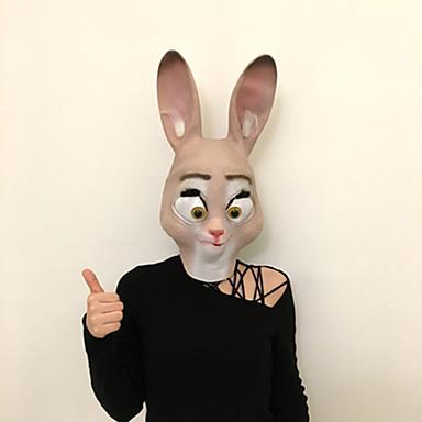 levne Masky-Halloweenské masky Masky zvířat Latex Guma Lepidlo Rabbit Jídlo a nápoje Dospělé Unisex