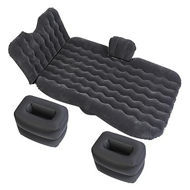 billige Interiørtilbehør til bilen-ny bil oppblåsbar seng oppgradering versjon hodebeskyttelsesfil multifunksjonell reisemadrass