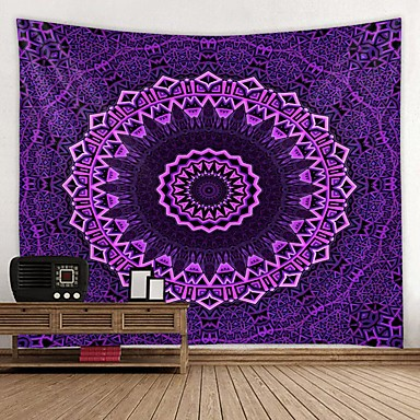 cheap Wall Tapestries-Wall Tapestry Art Decor Blanket Curtain Picnic Tablecloth Hanging Home Bedroom Living Room Dorm Decoration Mandala Indian Hippie Bohemian Psychedelic Pattern