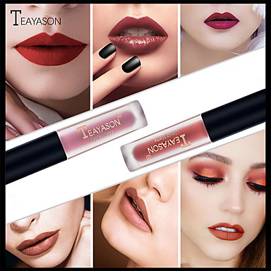 preiswerte Lipgloss-12 farben frauen mädchen kosmetik make-up lipgloss lang anhaltende feuchtigkeitscreme wasserdicht matt samt flüssigen lippenstift