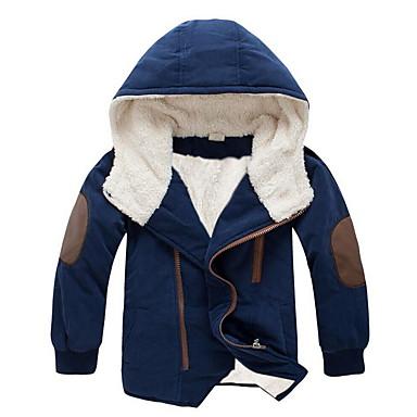 preiswerte Tops für Jungen-Kinder Jungen Street Schick Solide Langarm Baumwolle Jacke & Mantel Orange