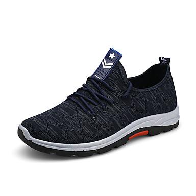 Férfi Kényelmes cipők PU Ősz Sportcipők Gyalogló Fekete / Kék