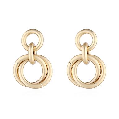 levne Dámské šperky-Dámské Visací náušnice Náušnice Twist Circle stylové Jednoduchý Evropský Moderní Náušnice Šperky Zlatá Pro Dar Denní Podium Dovolená Práce 1 Pair
