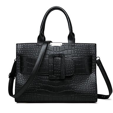 cheap New Arrivals Discount-Women's PU Top Handle Bag Crocodile Black / Dark Brown / Wine