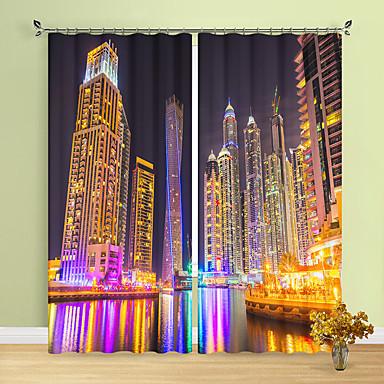 3D mintás 3D függönyök Két panel Függöny
