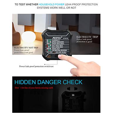 levne Testovací, měřící a kontrolní vybavení-MESTEK ST01D/ST01E Tester zásuvky Digitální displej Kontrola pro domácí instalaci