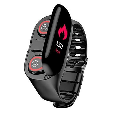 2in1 smart armbånd og to trådløse ørepropper m1 hjertefrekvens stillesittende påminnelse blodtrykk berøringsskjerm armbånd farge LCD monitor