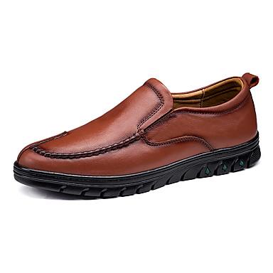 Férfi Bőr cipők Nappa Leather Tavasz / Ősz Klasszikus / Alkalmi Papucsok & Balerinacipők Gyalogló Csúszásmentes Fekete / Világosbarna / Sötétbarna