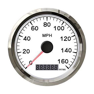 billige Interiørtilbehør til bilen-85mm rustfritt vanntett gps speedometer digital måle 0160 mph for bilmotorbil