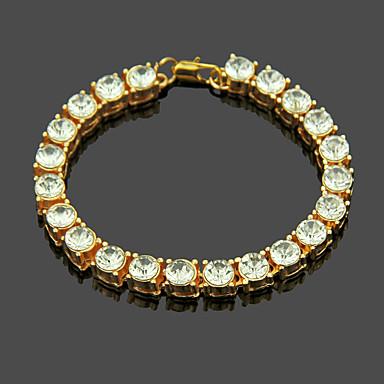 voordelige Dames Sieraden-Dames Armband Tennis ketting Verticaal modieus Legering Armband sieraden Goud Voor Dagelijks
