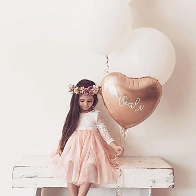 povoljno Odjeća za bebe-Dijete Djevojčice Aktivan Kolaž / Jednobojni Čipka / Otvorena leđa Dugih rukava Haljina Obala