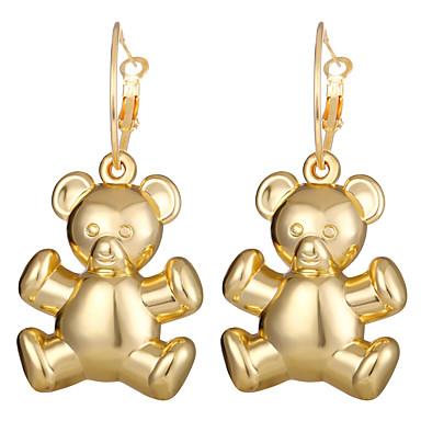 levne Dámské šperky-Dámské Náušnice - Kruhy Retro styl Medvěd Náušnice Šperky Zlatá Pro Denní Klub Festival 1 Pair